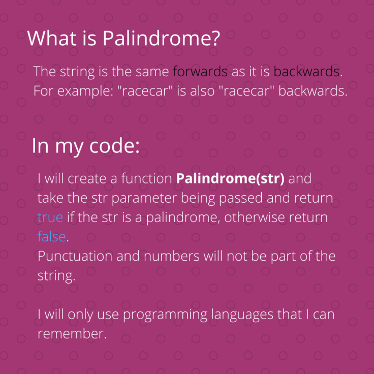 What is Palindrome