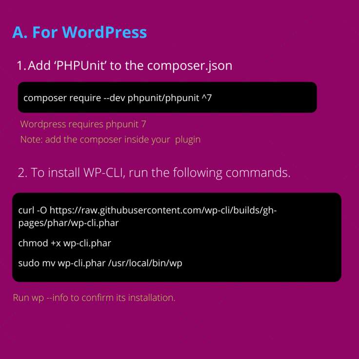 Setting up PHPUnit Testing in WordPress