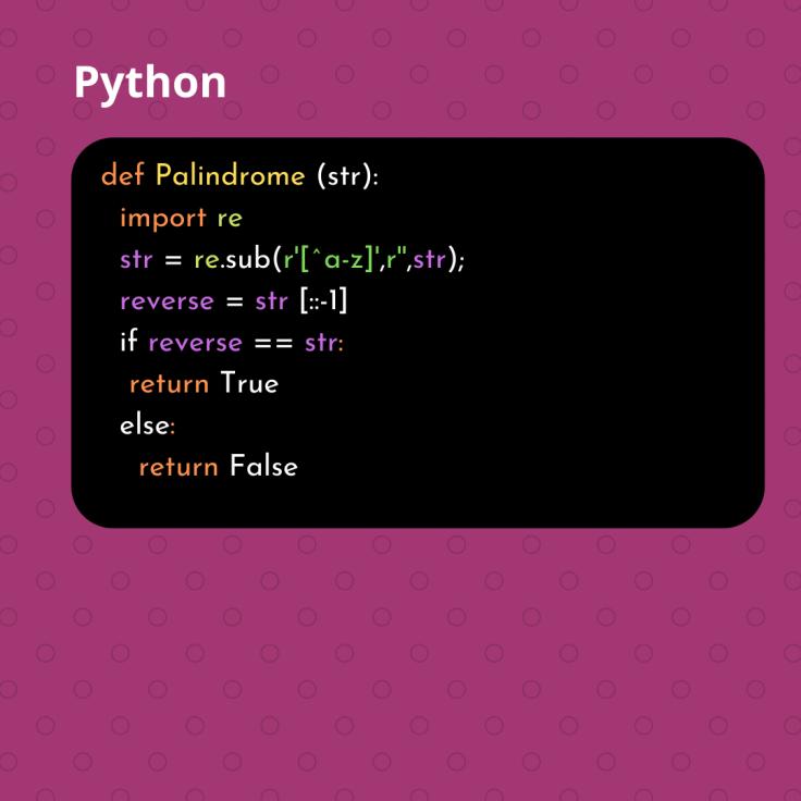 Python Palindrome