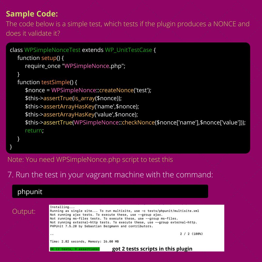 Setting up PHPUnit Testingin WordPress