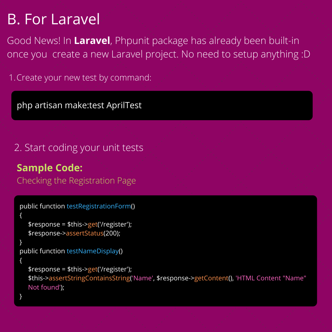 Setting up PHPUnit Testing in Laravel